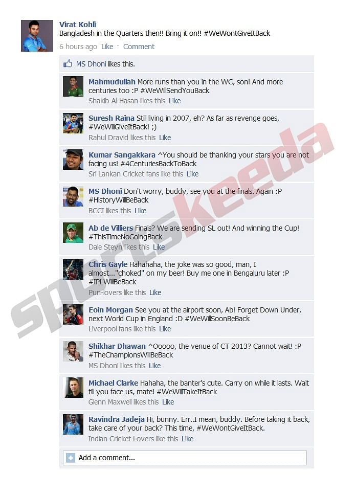 Fake FB Wall: Hashtag fever as players all set for World Cup quarterfinals