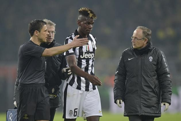 Juventus' Paul Pogba ruled out for 6-7 weeks due to injury