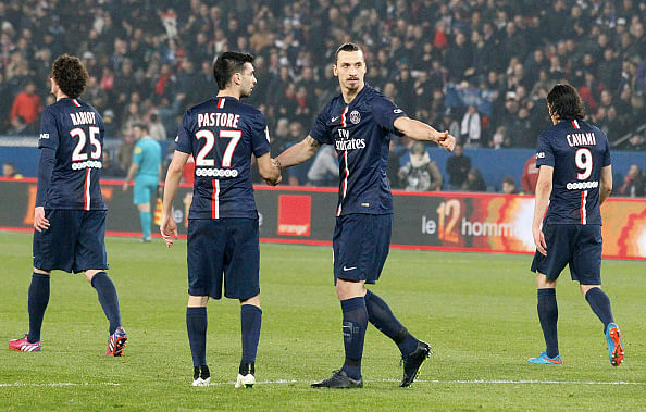 Zlatan Ibrahimovic's hat-trick against Lorient fires Paris Saint-Germain to top of Ligue 1