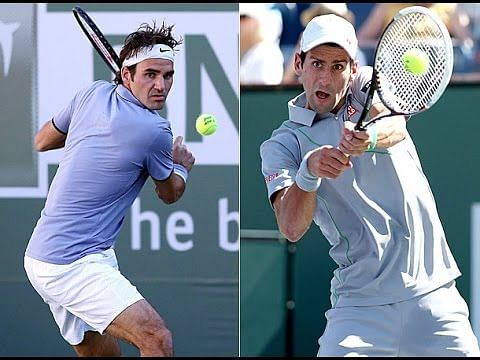 Roger Federer and Novak Djokovic clash in the Indian Wells desert