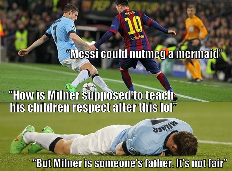 10 moments when Lionel Messi humilated footballers with his cheeky nutmegs