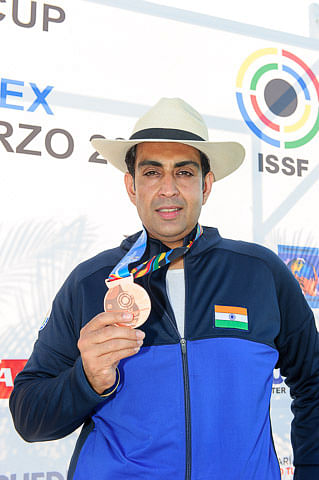 Manavjit Singh Sandhu bags bronze in ISSF Shotgun World Cup
