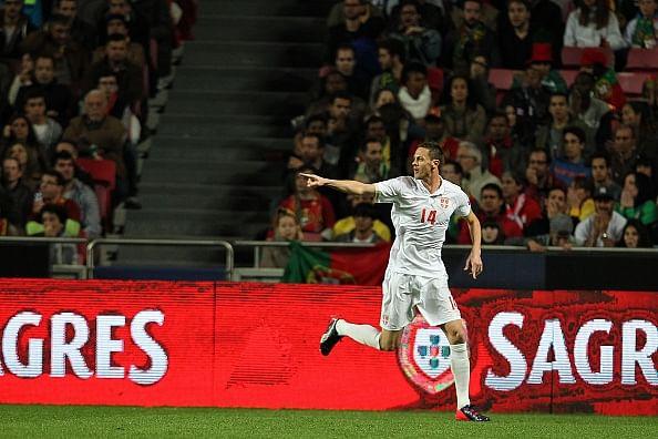 Video: Nemanja Matic scores brilliant bicycle kick goal for Serbia against Portugal
