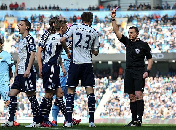 Video: Craig Dawson wrongly sent off vs Manchester City