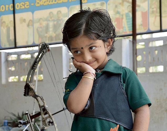 3-year-old Dolly Shivani Cherukuri all set for greatness after breaking national archery record