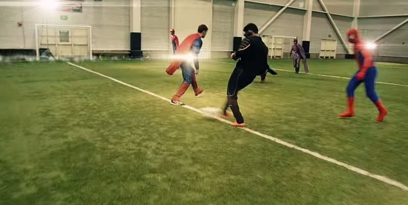 Video: This is what you get when superheroes and video games characters play football