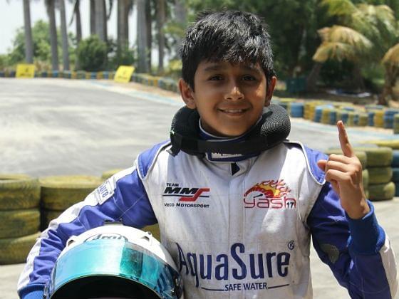 Yash Aradhya nominated for CIK-FIA karting series
