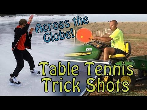 Video: Table Tennis tricks from across the globe