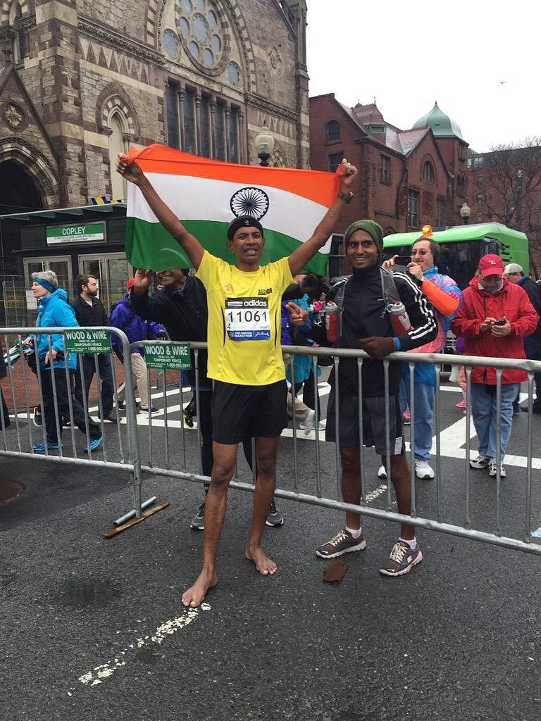 Thomas Bobby Philip becomes first Indian to run Boston Marathon barefoot