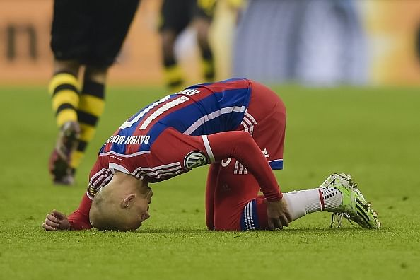 Arjen Robben to miss the rest of the season