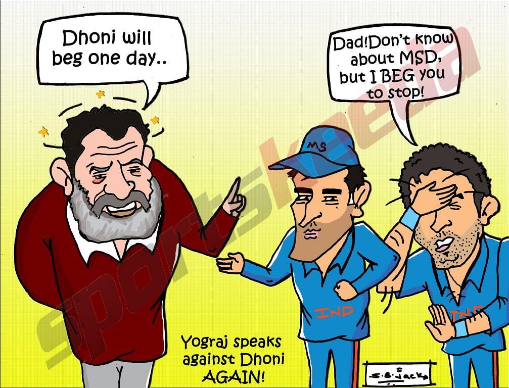 Comic: Yograj Singh hits out at MS Dhoni again