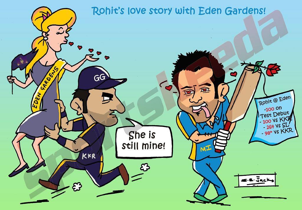 Comic: Rohit Sharma's love for Eden Gardens