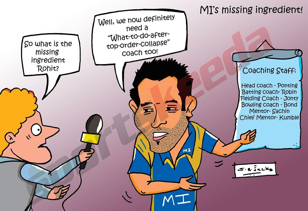Comic: Mumbai Indians' missing coach
