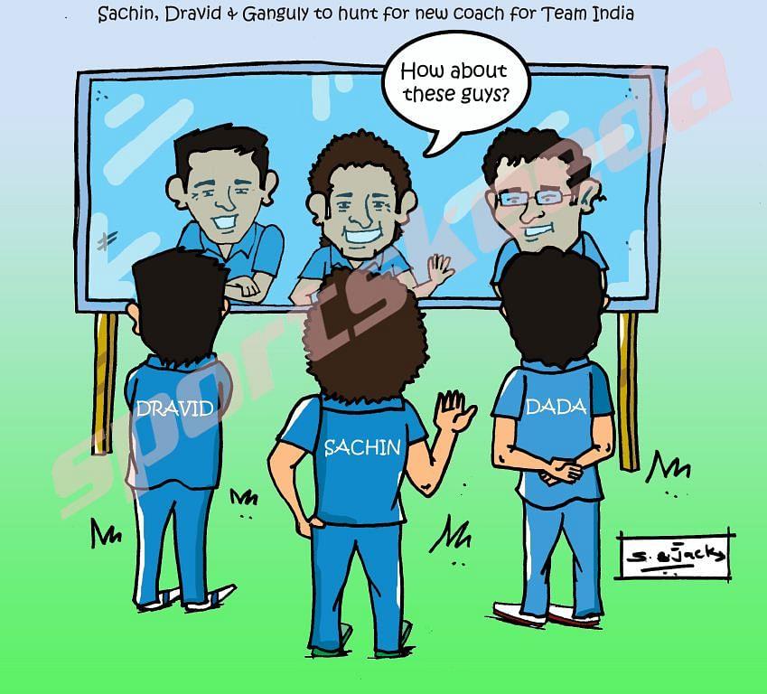 Comic: Sachin, Dravid & Ganguly to hunt for next Team India coach