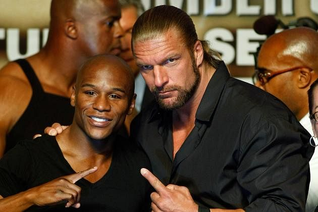 Triple H talks about working with Floyd Mayweather Jr.