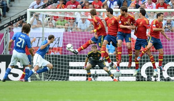 free kick iker casillas