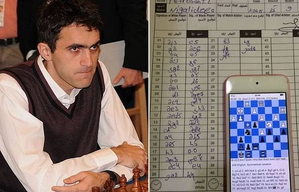 Georgian Grandmaster caught using smartphone to cheat at Dubai Open chess tournament