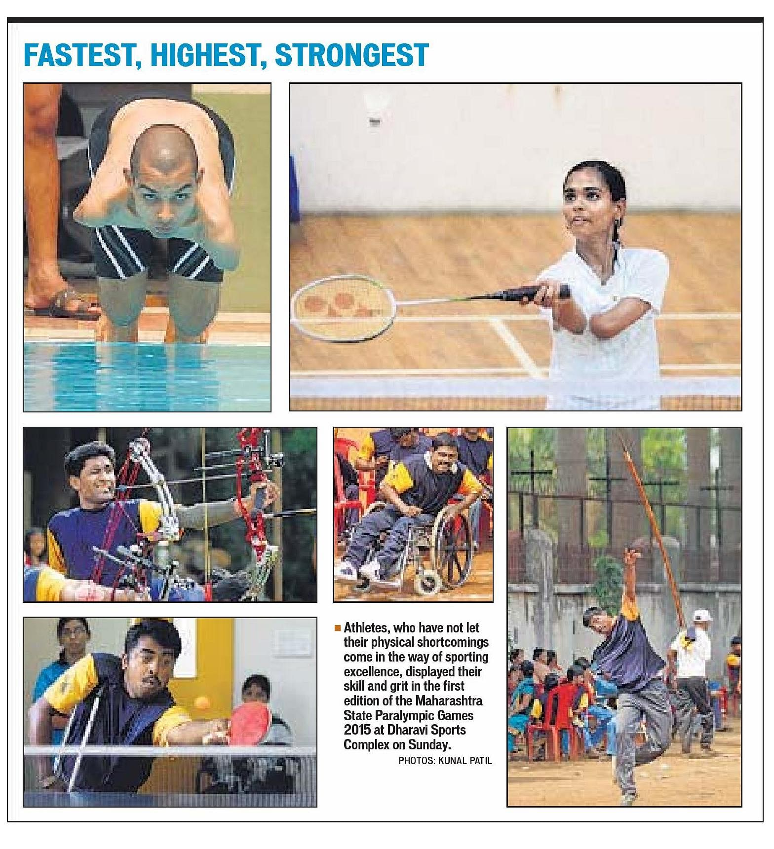 1st Maharashtra State Paralympic Games 2015 - Report