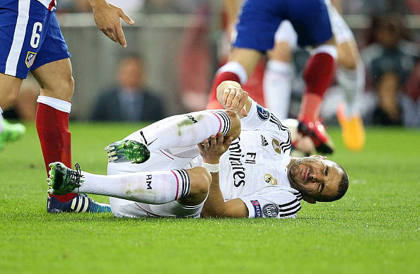 Karim Benzema to miss Real Madrid's Champions League second leg tie with knee injury