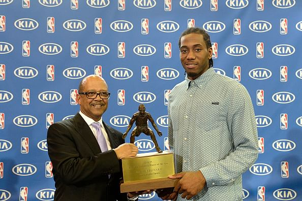 San Antonio Spurs' Kawhi Leonard named 2014-15 NBA Defensive Player of the Year