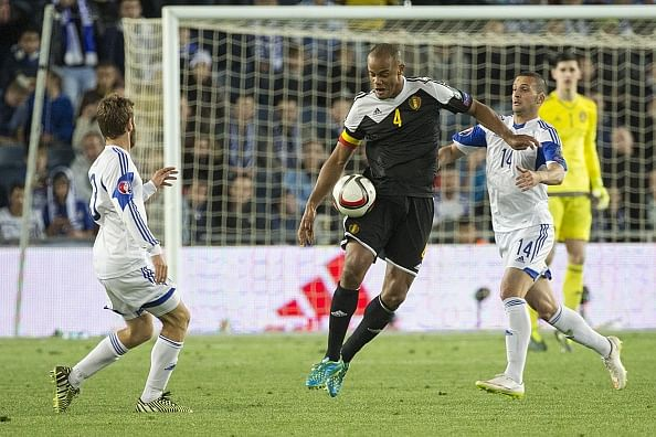 Video: Belgian Vincent Kompany proves why he isn't a striker during Euro qualifier against Israel