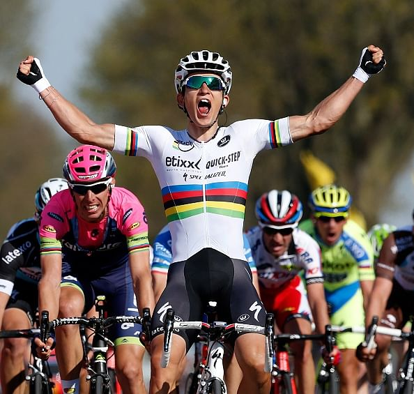 World champion Michal Kwiatkowski wins cycling Amstel Gold Race