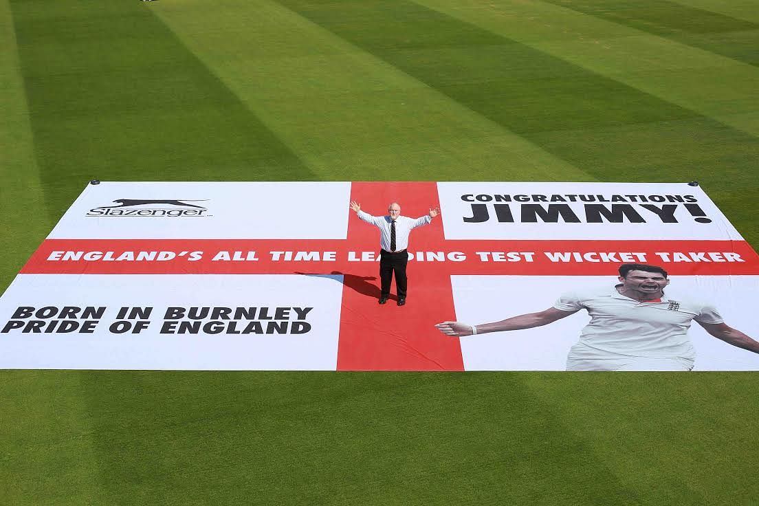 Slazenger creates commemorative flag to celebrate James Anderson's England wicket-taking record
