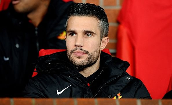 Manchester United's Robin van Persie: Up, up, away and gone!