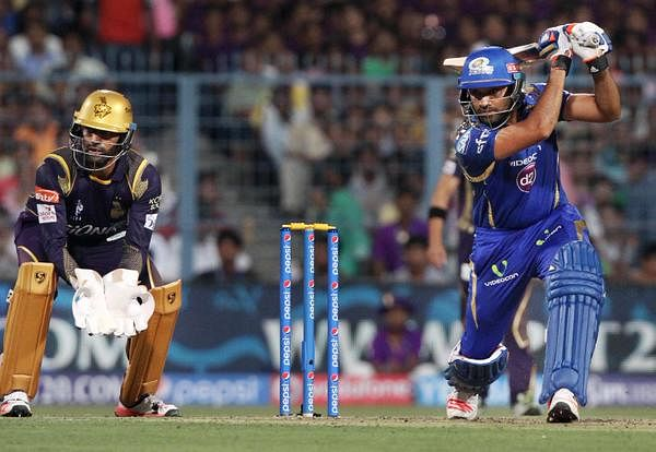 Rohit, Anderson power Mumbai Indians to 168/3 at Eden Gardens against Kolkata Knight Riders