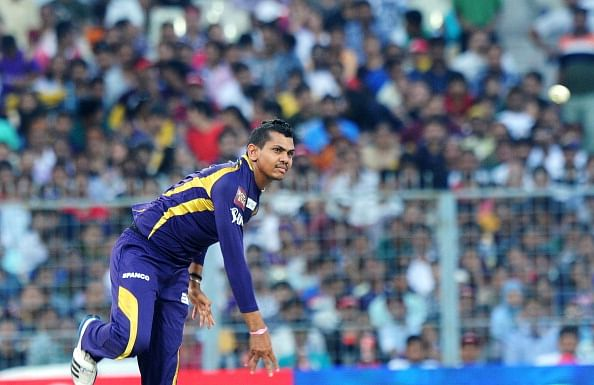 Sunil Narine takes part in KKR net session at Eden