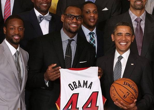 US President Barack Obama shares his thoughts on the NBA Finals during climate change twitter chat