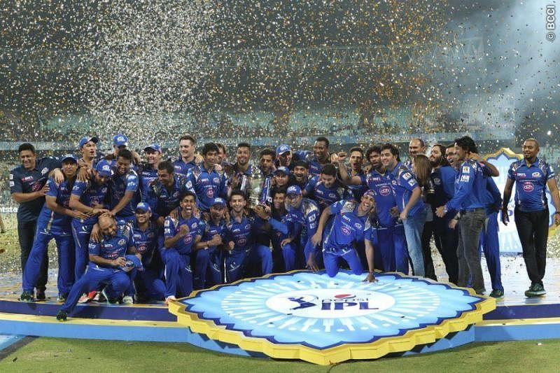 Mumbai Indians celebrate IPL triumph at Wankhede