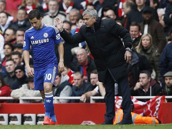 Jose Mourinho and Eden Hazard pick up Barclays Premier League awards
