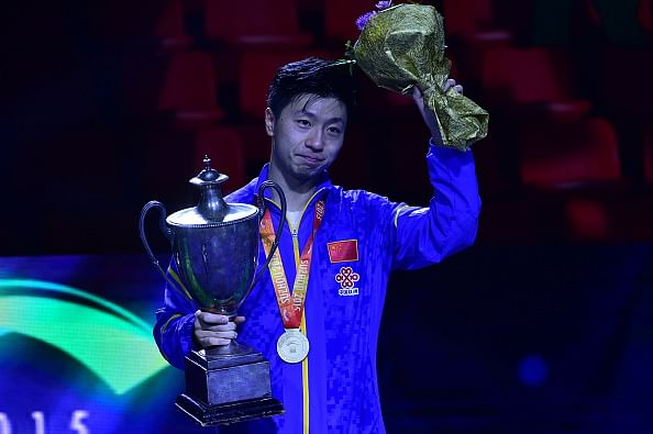 Ma Long wins men's singles title at World Table Tennis Championships