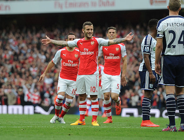 Video: Jack Wilshere's stunning half-volley in 4-1 victory over West Bromwich Albion