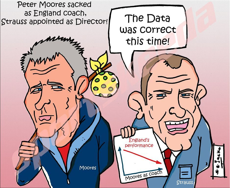Comic: Peter Moores sacked as England coach