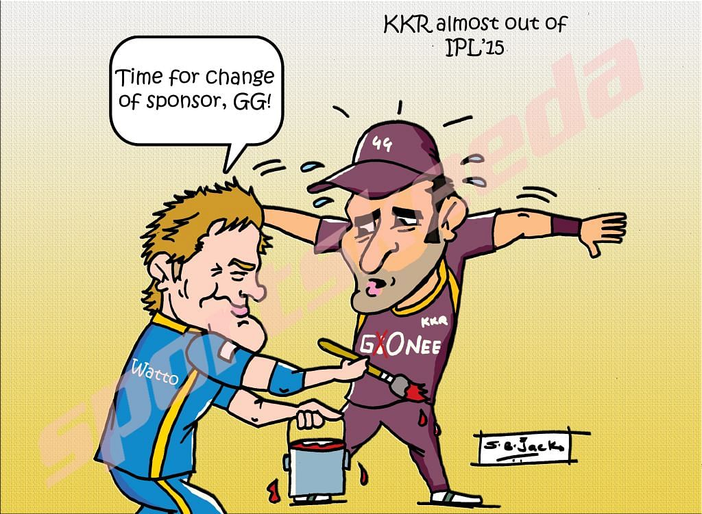 Comic: Kolkata Knight Riders need a change of sponsor