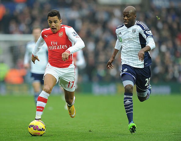 Alexis Sanchez could break Henry's record as Arsenal take on West Bromwich Albion