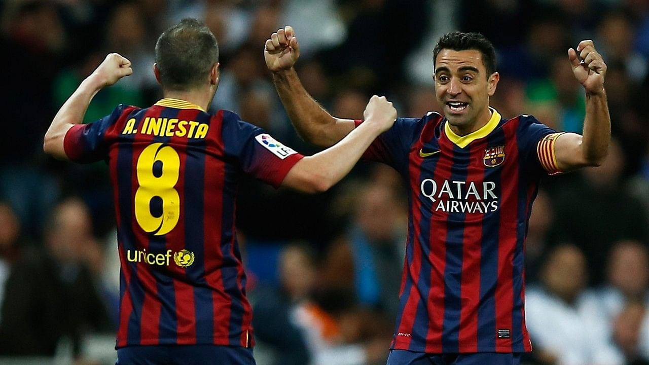 Barcelona's Andres Iniesta pays tribute to teammate Xavi