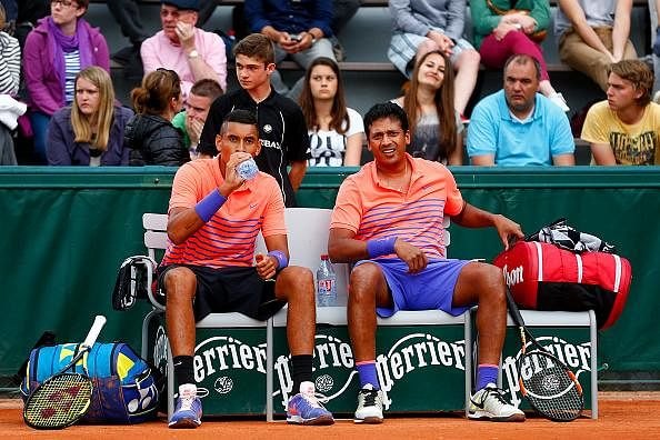 French Open: Mahesh Bhupathi and Nick Kyrgios knocked out in men's doubles