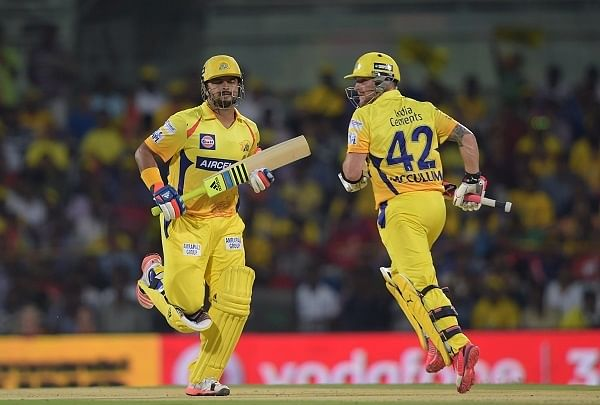CSK thrash KXIP, assured of top spot (Roundup)