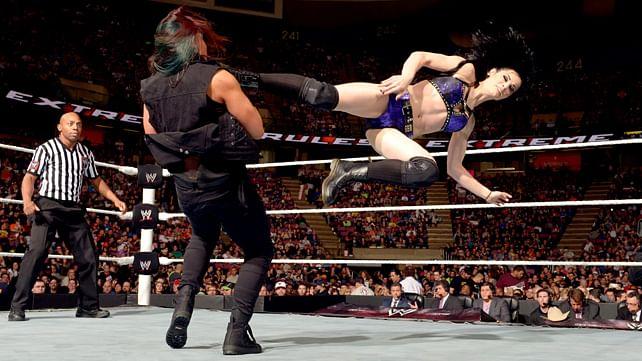 Paige calls Tamina Snuka a man in SmackDown promo