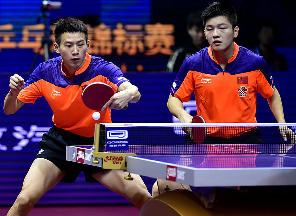 All-Chinese men's doubles final at the World Table Tennis ...