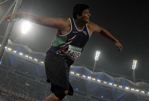 Vikas Gowda wins bronze at the IAAF Diamond League