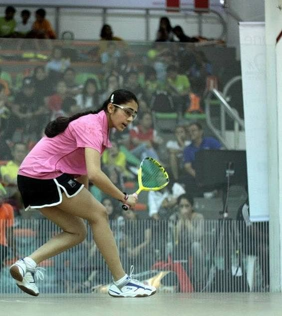 Exhibition of India's squash future at the Indian Squash Academy