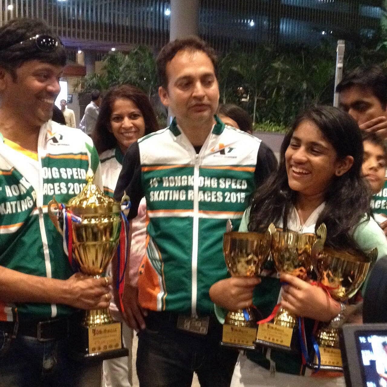 India wins 14 medals at the 14th Hong Kong Speed Skating Championships