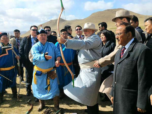 Modi shoots arrows at Mongolia's Mini Naadam festival