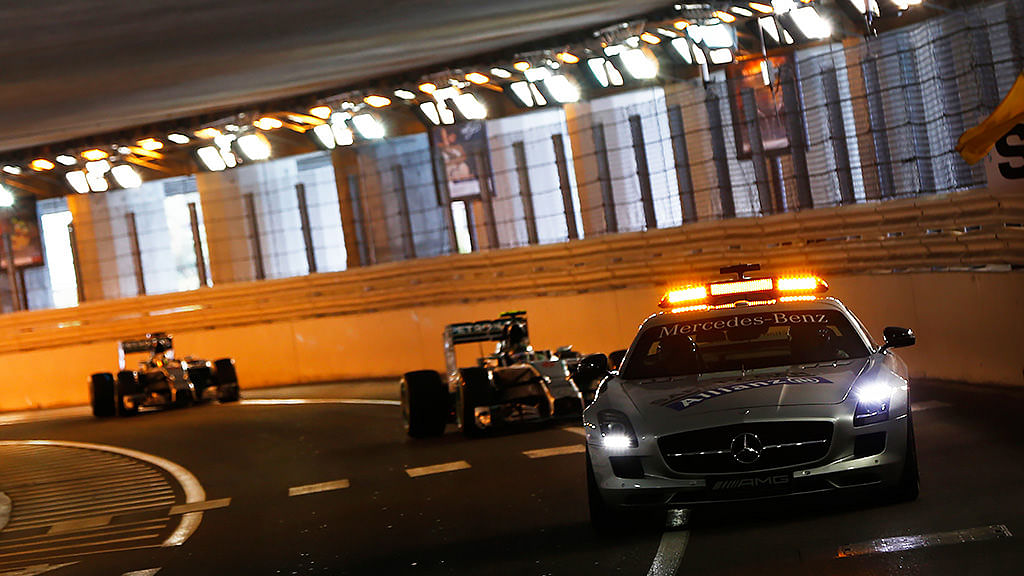 Safety Car in Monaco tunnel