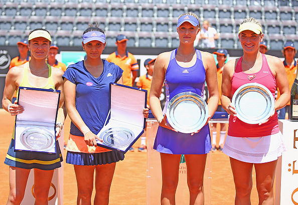 Sania Mirza-Martina Hingis lose in the final of Rome Masters