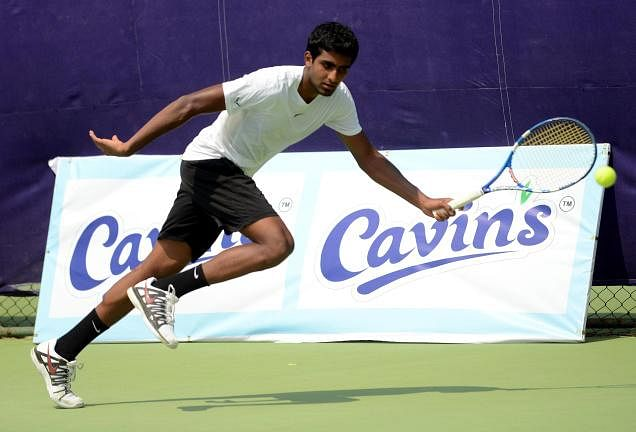 Mukund survives scare in Mandya tennis